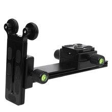 Kamera quick release alüminyum alaşımlı kamera telefoto Lens braketi istikrarlı destekleyen plaka yüksekliği ayarlanabilir tripod monopod