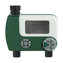 цена на Automatic Watering Sprinkler System Intelligent Irrigation Timer Controller Programmable Digital Hose Faucet Timer with 2 Outlet
