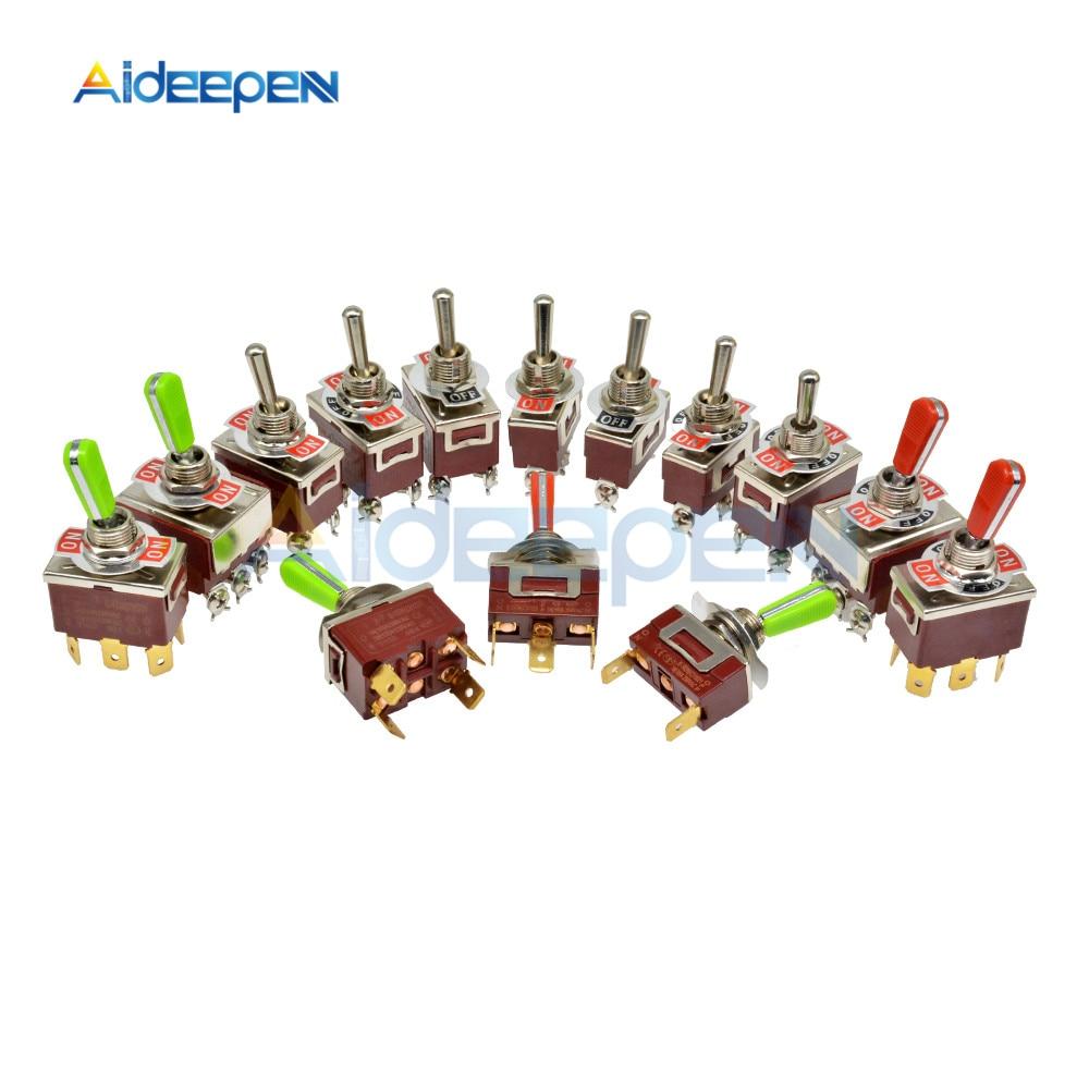 Toggle Switch E-TEN(C)1322/1221/1321/1122/1021/1121/223 E-TEN(A)9310/9210 2/3/4/6/9/12 Pin ON-ON ON-OFF-ON Switch Waterproof Cap