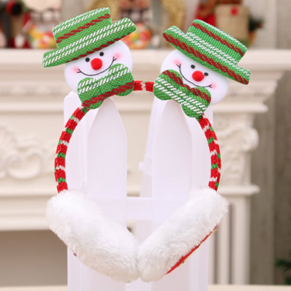2019 Men Women Christmas Earmuffs Headband Ear Warmers For Kids Adults Cute Soft Gift Decor