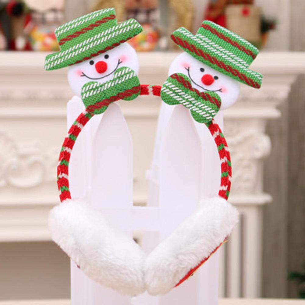 2019 Men Women Christmas Earmuffs Headband Ear Warmers For Kids Adults Cute Soft Gift Decor