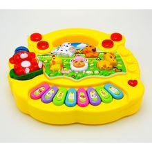 Красочное мини-пианино, звуковая музыка для животных, музыкальный инструмент для детей ясельного возраста, прочная пластиковая развивающая игрушка для детей