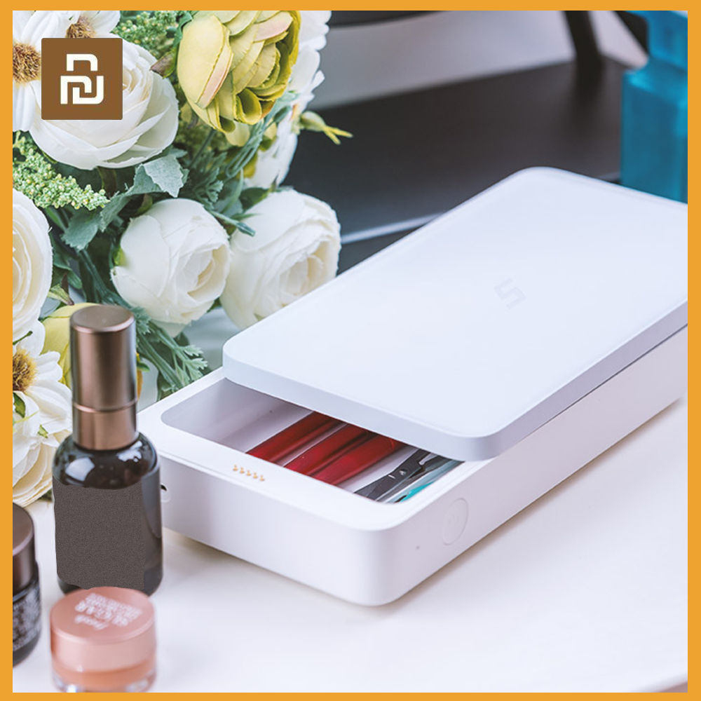 Youpin 3 In 1 UVC-LED Five Multifunctional Disinfection Box 99% UV Sterilization Wireless Mobile Phone Portable