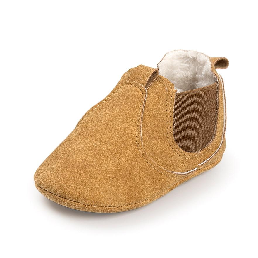 2019 Winter Baby Boys Girls Keep Warm Shoes First Walkers Sneakers Kids Crib Bebe Infant Toddler Footwear Solid Boots Prewalkers