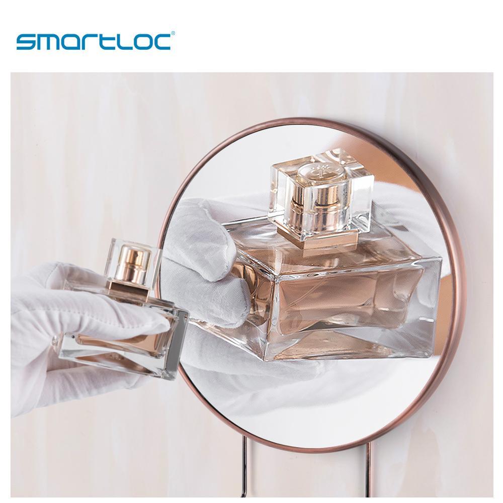 smartloc 20cm 5X Magnifying Suction Cup Mirror Shaving rack Bronze color Mirror Smart Bathroom Shaving Mirror Makeup Mirror