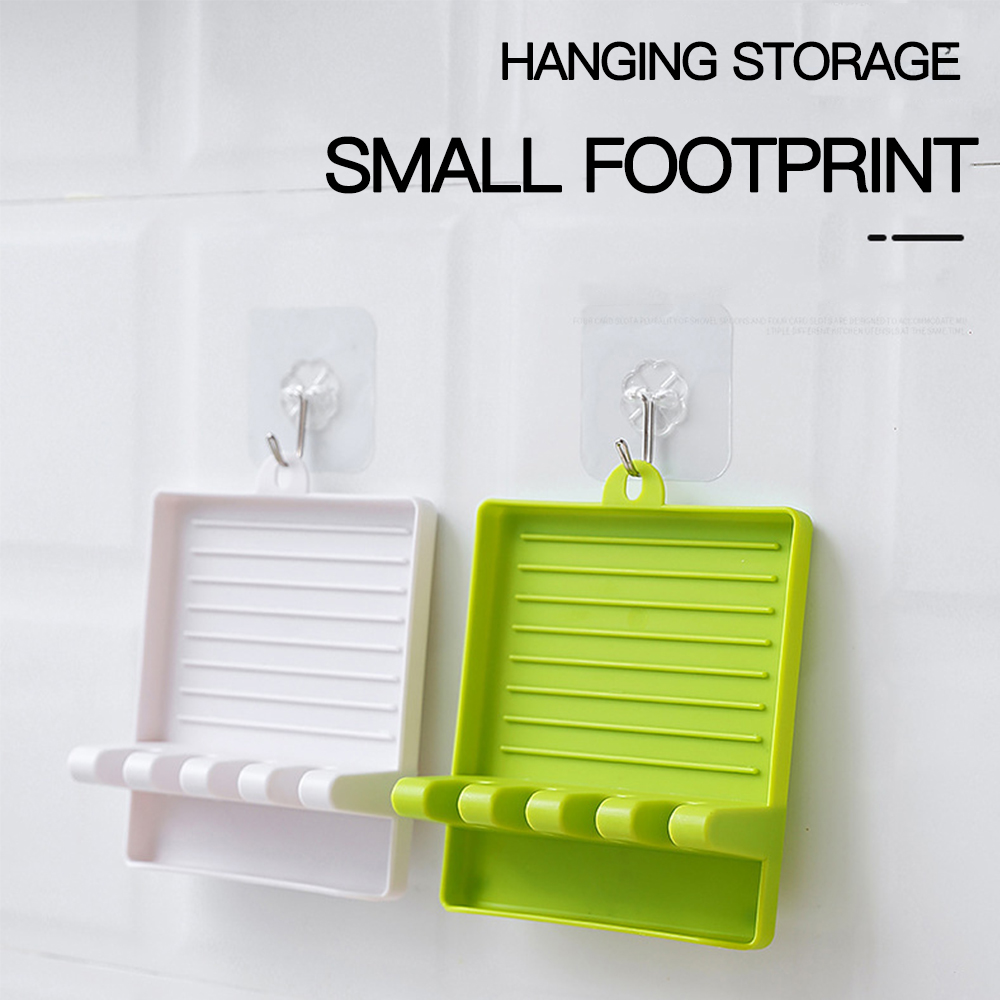Kitchen Storage Organizer Spatula Racks Pot Lid Tool Gadgets Shelf Multi Function Spoon Rest Holder Non-Slip Silicone Utensil