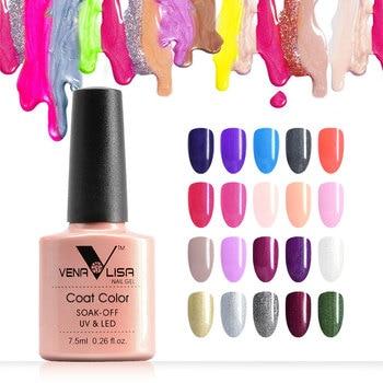 7.5ml VENALISA Nail Gel Polish High Quality Nail Art Salon 60 Colors Soak off UV LED Nail Gel Varnish Camouflage Color Lacquer 1