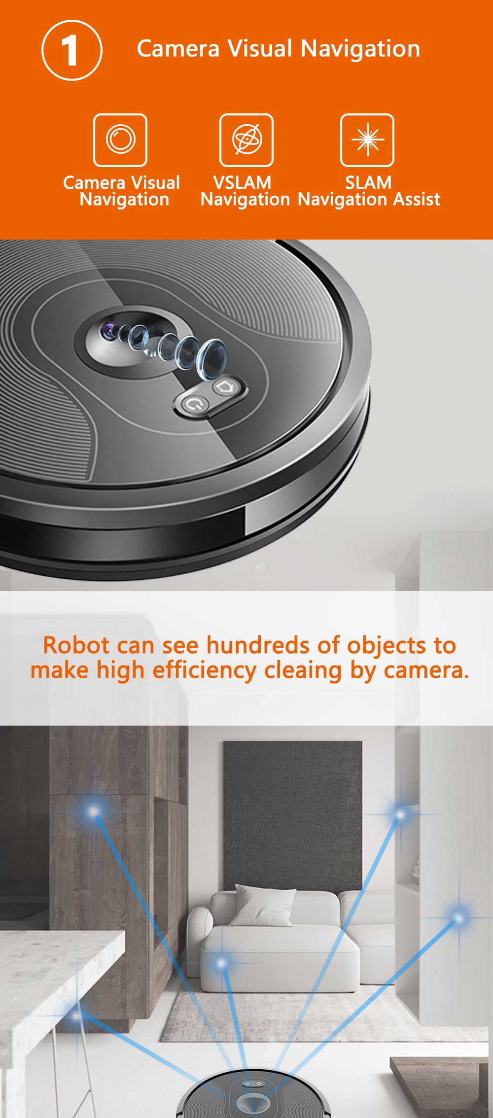 H94b0ed9596c9443595d8e5d08cecc9b3r ABIR X6 Robot Vacuum Cleaner with Camera Navigation,WIFI APP controlled,Breakpoint Continue Cleaning,Draw Cleaning Area,Save Map