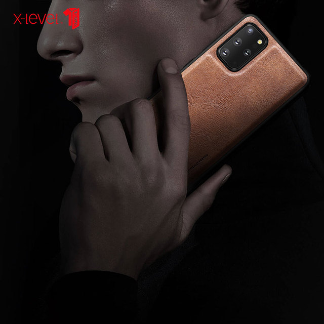 X-Level Leather Case For Samsung S20 Plus Original Soft Silicone Edge Back Phone Cover For Samsung Galaxy S20 Ultra Case S20 5G 5