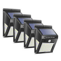 1/2/4Pcs 30/40 LED di Energia solare Della Lampada PIR del Sensore di Movimento Attivato Lampada Solare Esterna Impermeabile Da Giardino muro di sicurezza Luce
