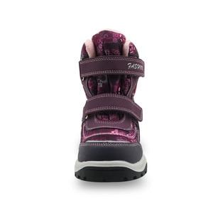 Image 2 - Зимние ботинки для девочек; Детские водонепроницаемые теплые шерстяные ботильоны; Зимние ботинки для снежной погоды, пешего туризма, альпинизма; Уличная спортивная обувь