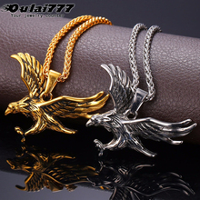 oulai777 men necklaces pendants wholesale eagle stainless steel chain personalized on the neck Simple male Accessories