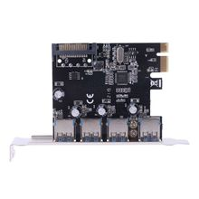 PCI-E PCI-E PCI Express To USB 3.0 VIA Chip SATA Interface 4 Port Adapter Converter Card for Desktop Windows цена и фото