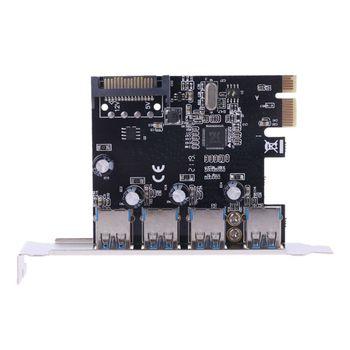 PCI-E PCI-E PCI Express To USB 3.0 VIA Chip SATA Interface 4 Port Adapter Converter Card for Desktop Windows dovewill pci e sata 3 to usb 3 0 4 port pci express expansion card 4 usb 3 0 ports
