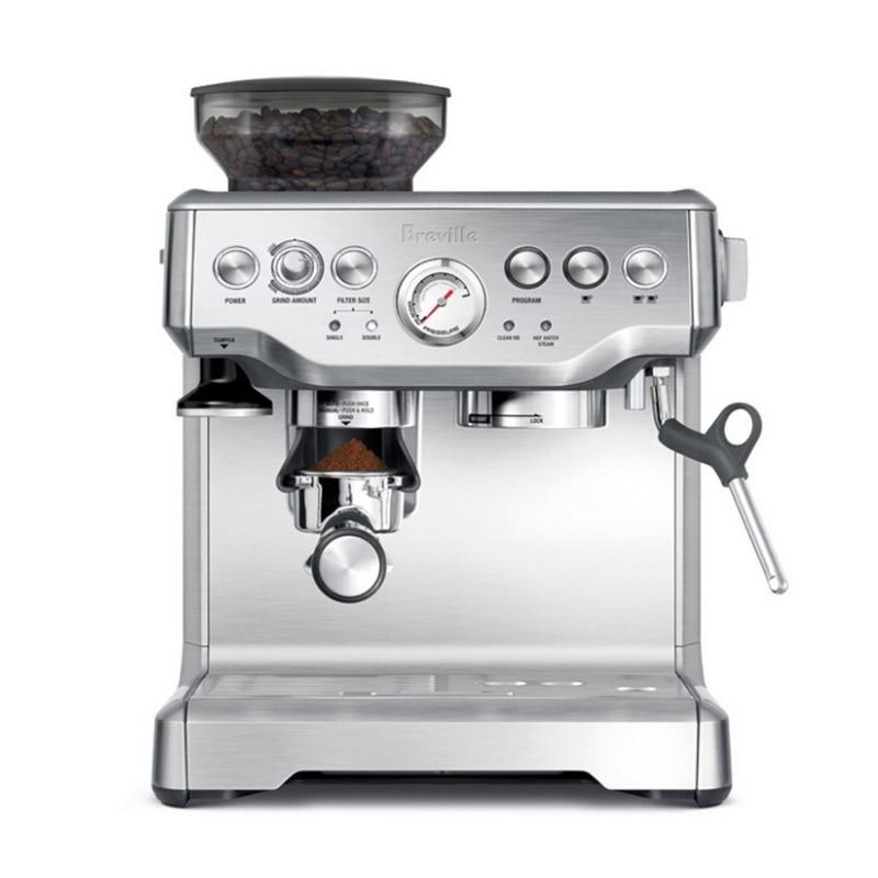 Espresso Coffee Maker Grind Beans Semiautomatic 15Bar Grinder Steam Coffe Machine 2