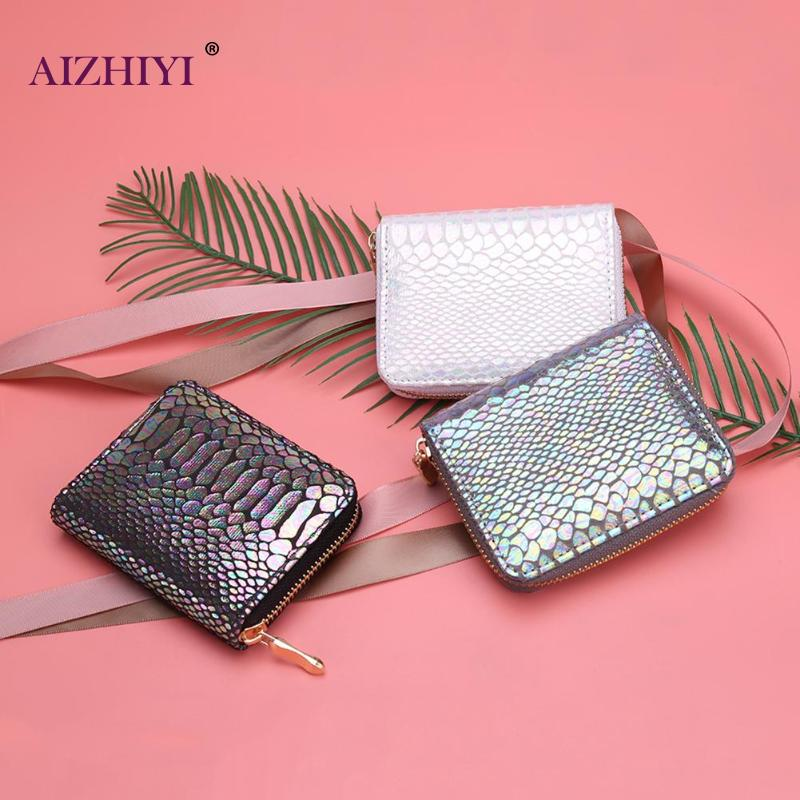 New Fashion Women Short Wallet Sexy Snake Pattern PU Leather Clutch Bag Women PU Leather Money Wallet Card Holder