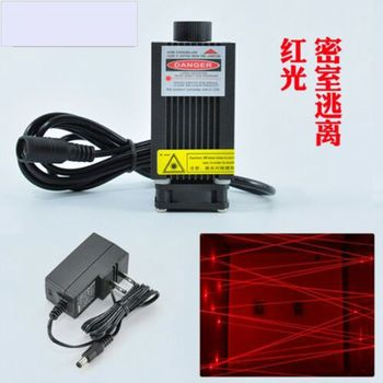 Focusable 650nm 660nm 200mw Red Dot Laser Diode Module w 12V Adapter Room Escape 532nm 50mw green laser 650nm 200mw red laser dot module 12v w driver