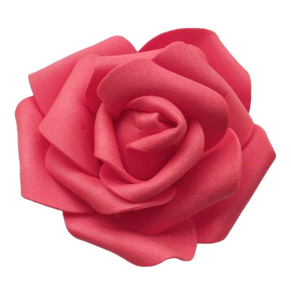 25/50/100 pièces Simulation Réaliste Artificielle PE Mousse Non-décoloration Faux Rose Têtes De Fleurs bricolage Fête De Mariage Restaurant Décor À La Maison