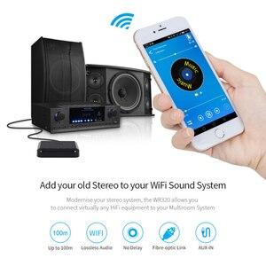 Image 4 - Agosto wr320 wi fi bluetooth receptor de áudio sem fio música adaptador óptico para airplay spotify dlna nas fluxo de som multiroom