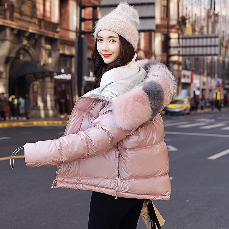 Natural fox fur Women's jacket Autumn winter waterproof coat Female fashion new winter jacket women slim Warm Parkas Female coat