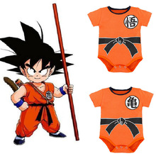 Cartoon Dragon Ball New Born Baby Clothes Ropa Bebe Summer Short Sleeve Triangle Romper Cotton Onesie 3M Jumpsuit Costume
