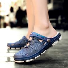 2020 new couple sandals hole shoes unisex slippers hole garden shoes Crocse Adulto Cholas Hombre sandals