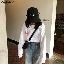 Manches longues T-shirts femmes Style coréen imprimé Streetwear BF décontracté Ulzzang Chic mode femme à la mode automne Simple loisirs