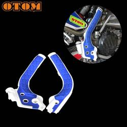 OTOM Motorcycle 2 Pieces X-Grip Plastic Frame Gaurds Protection Covers For KTM SX125 150 SXF SX250 XC EXC Motocross Accessories