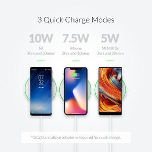 Image 3 - ORICO 10W  Qi Wireless Charger Charging Pad USB Phone Charger for iPhone 11 Samsung Xiaomi Charger