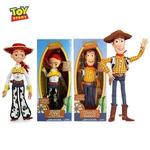 40 см Disney Movie Toy Story Woody Jessie Экшн фигурки тканевая модель тела кукла говорящая на английском языке настоящая игрушка кукла детский подарок на д...