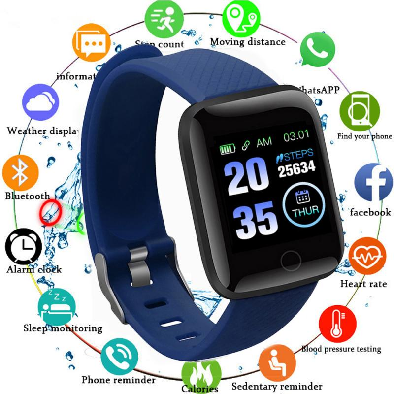 Monitor Band Fitness Tracker Wristbands Wearable Devices Pedometers 116Plus Smart Band Watch Bluetooth Heart Rate Blood Pressure 28