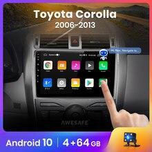 AWESAFE PX9 para Toyota Corolla E140/150/2007-2013 auto Radio Multimedia reproductor de video GPS No 2din 2 din Android 10,0 2GB + 32GB