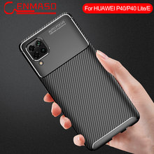 Voor Huawei P40 Lite Case Ultra-Dunne Zachte Tpu Carbon Fiber Cover Voor Huawei P30 P20 Mate 30 Pro v30 9X 8X Shockproof Back Case(China)