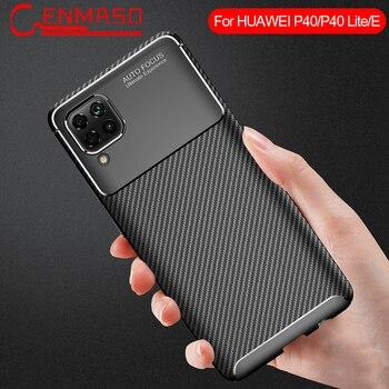 适用于华为P40 Lite手机壳超薄TPU碳纤维软壳适用于华为P30 P20 Mate 30 Pro v30 9X 8X防震后盖
