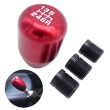 6 Speed Aluminium Red Racing Car Gear Shift Knob Manual Replacement Gear Shifter Fit For Honda /Acura RSX /Civic Si S2000