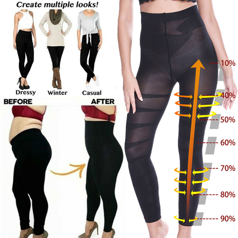 Miss Moly High Waist Leggings Women Sculpting Sleep Leg Legging High Waist Skinny Pants Slimming Leggings Thigh Slimmer Pants