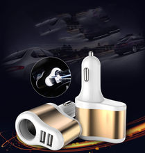 Car Dual USB Electronic Cigarette Lighter Charger Socket Splitter Adapter 3.1A Charger for iPhone Phone 12V-24V(China)