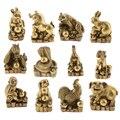 Чистая латунь китайский Fengshui декор. 12 зодиака Коллекционная Фигурка животного орнамент деньги на удачу богатство