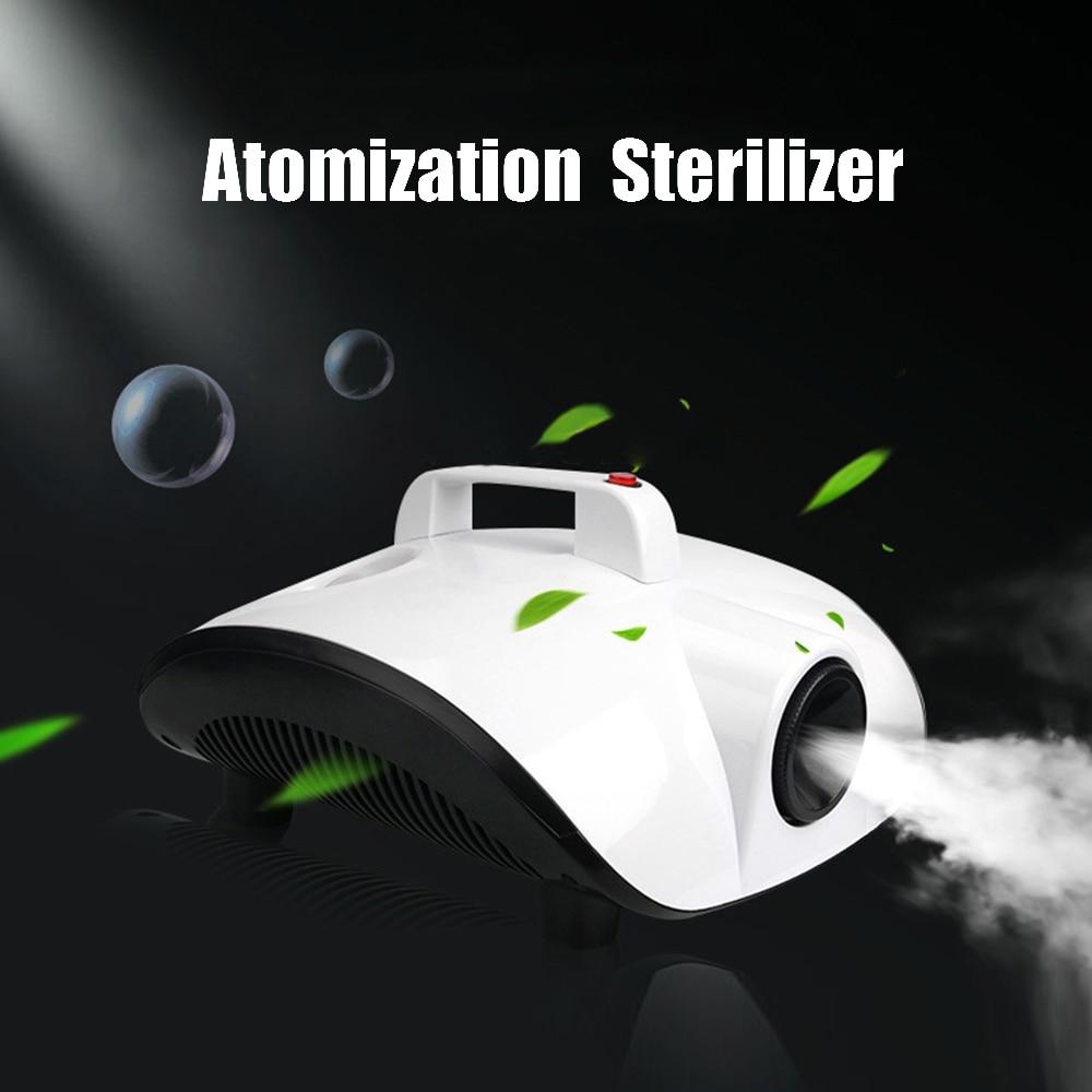 Free Shipping Hot Sale Atomization Sterilizer EU Plug 1500W Disinfectant Kill Baterial Remove Peculiar Smell Fog Machine