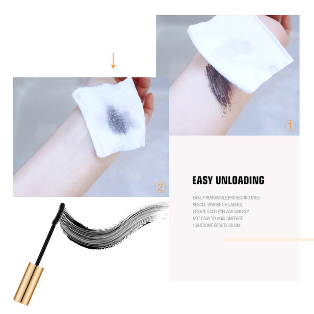 O.TWO.O 3D Mascara Lengthening Black Lash Eyelash Extension Eye Lashes Brush Beauty Makeup Long-wearing Gold Color Mascara 3