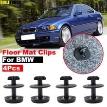 4 шт. Автомобильный крепеж для пола, зажимы для ковров с поворотным замком, крепежный зажим для BMW E46 E38 E34 E32 E39 3 5 7 серии, устойчивый фиксатор
