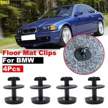 4pcs Car Fastener Floor Mat Clips Twist Lock Carpet Fixing Clamp For BMW E46 E38 E34 E32 E39 3 5 7 Series Resistant Retainer image