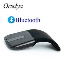 Bluetooth kablosuz fare ark dokunmatik taşınabilir ergonomik bilgisayar fare katlama optik Mini fare dizüstü PC dizüstü Tablet