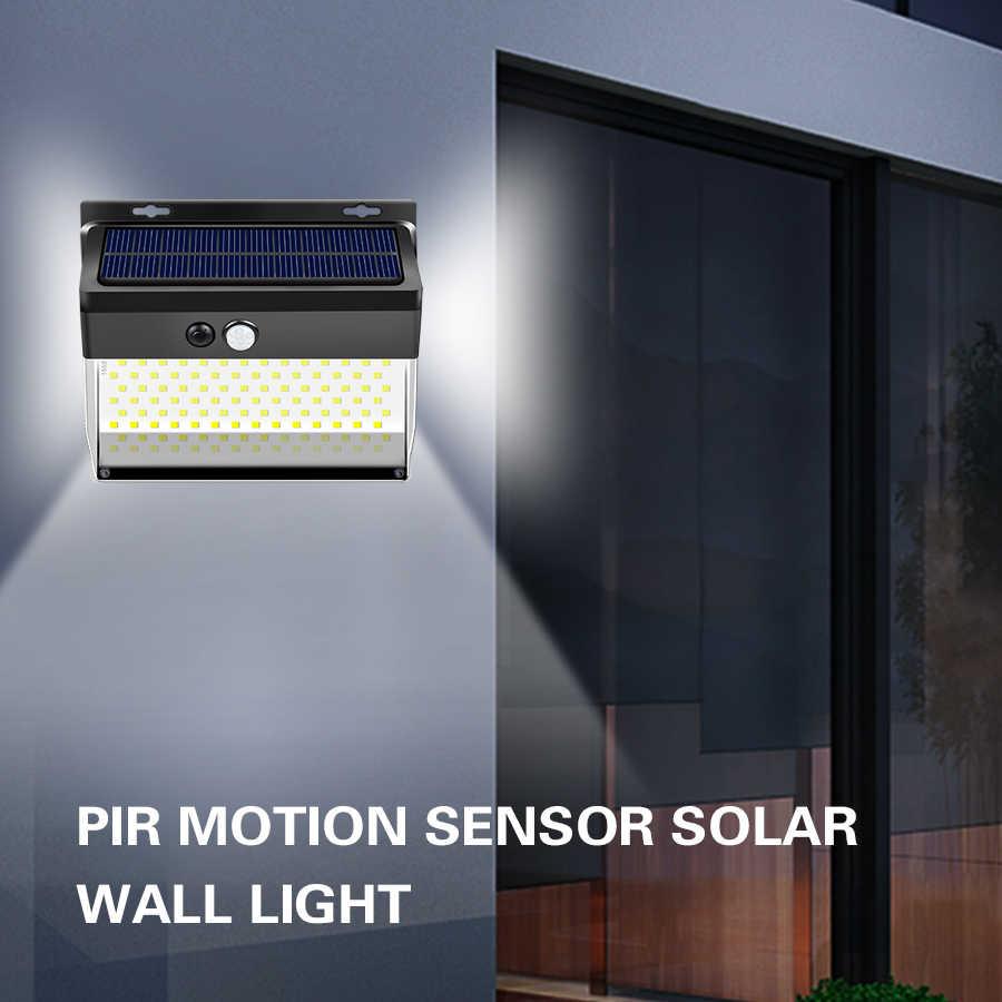 262 LED Solar Power Lights Outdoor PIR Motion Sensor Garden Security Wall Lamps