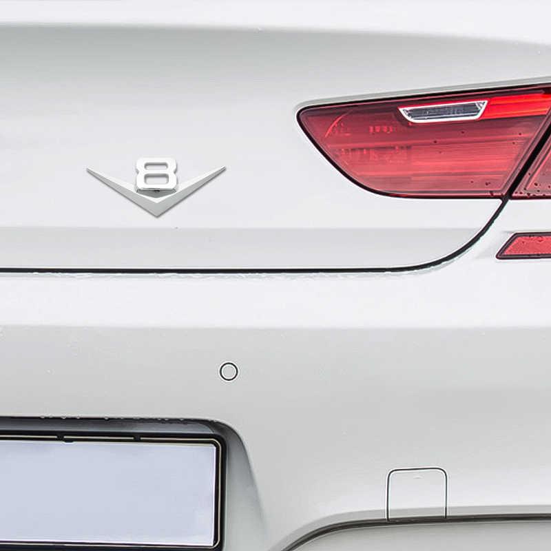 Logotipo do carro 3d adesivo emblema auto emblema decalque para v6 v8 mercedes bmw audi ford fiesta mustang ranger nissan toyota honda estilo