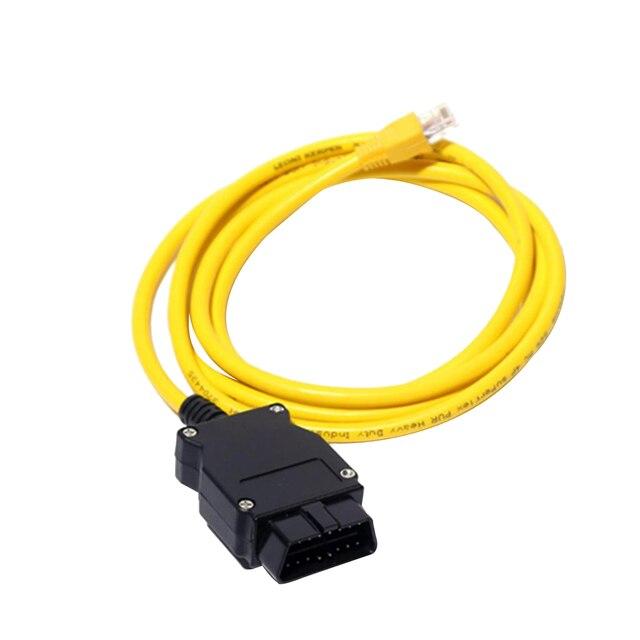 Câble dextension dinterface OBD de 7 pouces | Haute fiabilité, jaune pour série BMW ENET