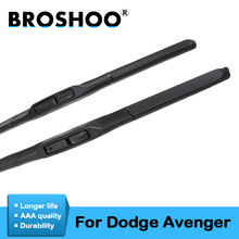 цена на BROSHOO Car Windscreen Wiper Blades Soft Rubber For Dodge Avenger 2007 2008 2009 2010 2011 2012 2013 2014 Fit Standard Hook Arm