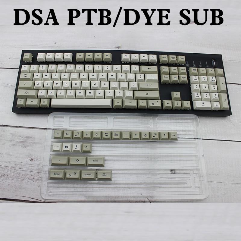 IDOBAO 129 Key Light Gray DSA Keycaps For Mechanical Keyboard PBT  Russian Gk61 Art Electronics Motospeed Ck104 Clavier GamerKeyboards