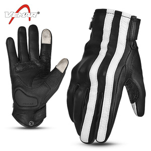 Image 2 - VEMAR Motorcycle Gloves Men Leather Moto Motocross Gloves Breathable Motorbike Gloves Touch Function Guantes Moto Riding Gloves