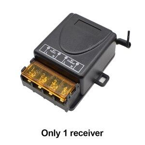 Image 5 - Interruptor de controle remoto sem fio, ac 85v 260v, ac 220v 110v, max 40a, módulo receptor de relé ampla tensão 433mhz ev1527